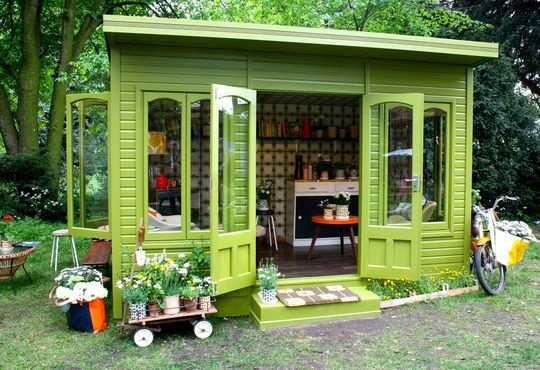 backyard-shed-accessory-dwelling-tiny-house - Backyard Tiny House Retreat – Tiny House Pins