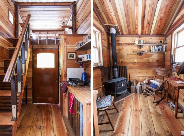 Rustic tiny house interior tiny house pins for Small cabin interiors photos