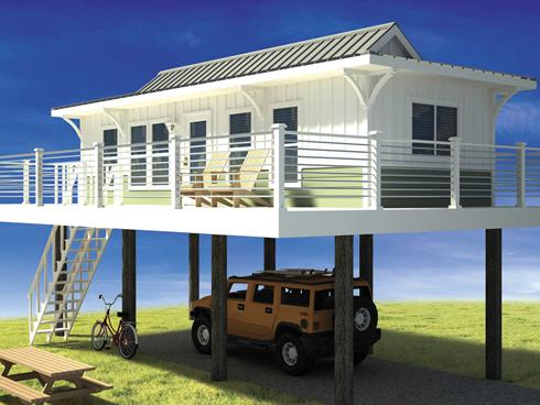 Beachfront tiny houses on stilts tiny house pins for Stilt home plans