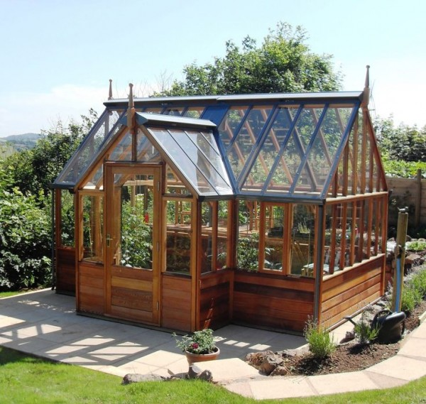 One stylish greenhouse tiny house pins for Home garden greenhouse design