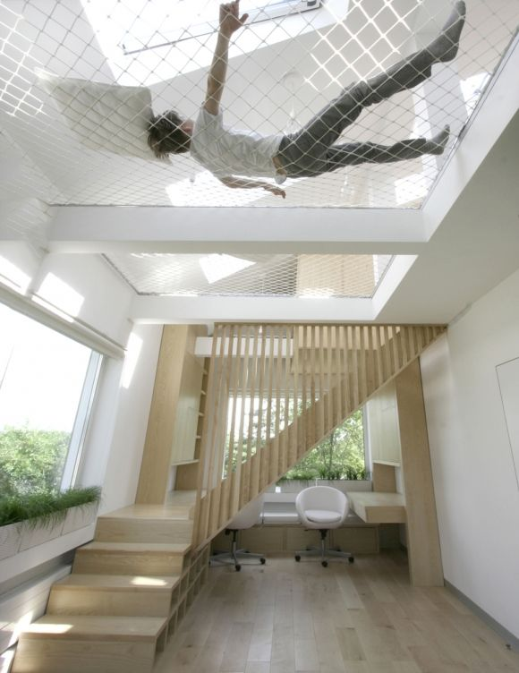 Ceiling Hammock Sleeping Loft for Tiny Houses Tiny