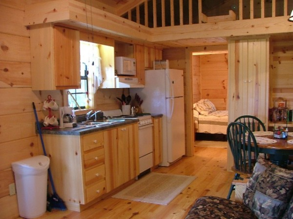 Tiny cabin kitchen interior tiny house pins for Small cabin kitchen designs