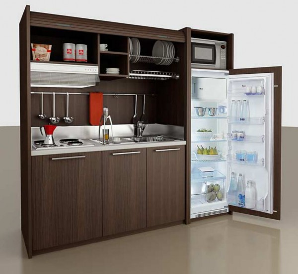All in one micro kitchen units great for tiny homes for Unit kitchen designs