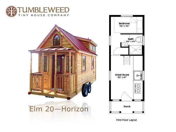 Tumbleweed Tiny House With No Sleeping Loft