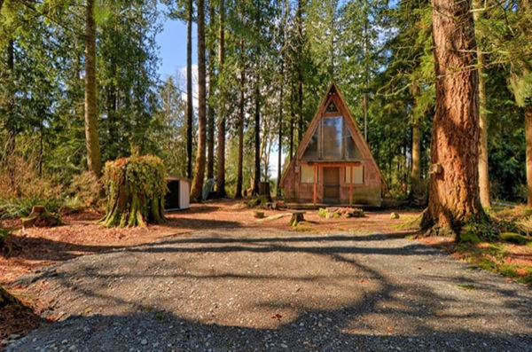 500 Sq. Ft. A-Frame Cabin for sale with land: $75k
