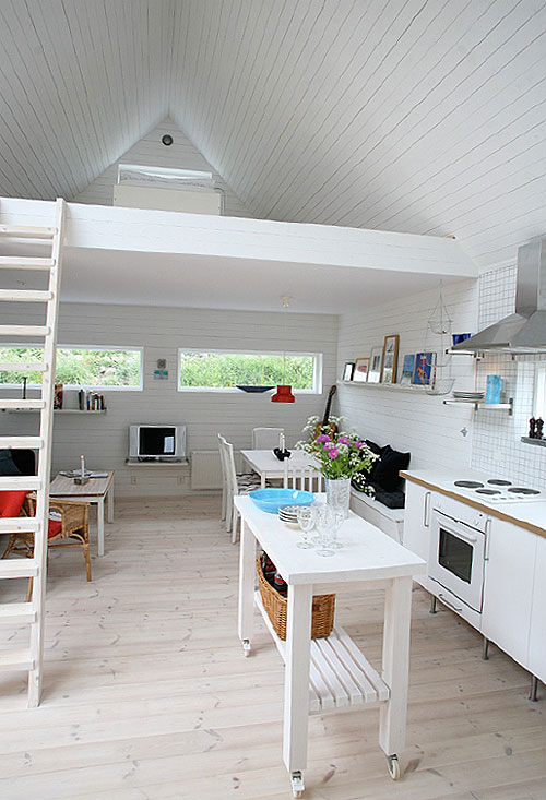 All white tiny home interior in sweden tiny house pins Interior pictures of tin homes