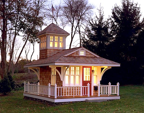 Tiny Cottage With Tower And Surrounding Deck Tiny House Pins: awesome small house plans