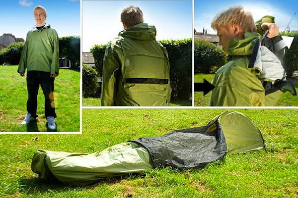 JakPak: Wearable Shelter if you're Thinking about Backpacking