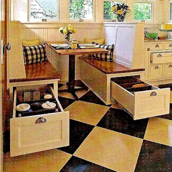 Space Saving Kitchen Table Ideas Part - 49: Kitchen-booth-space-saving-for-dining