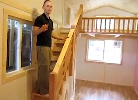 Tiny House with Big Staircase to Loft