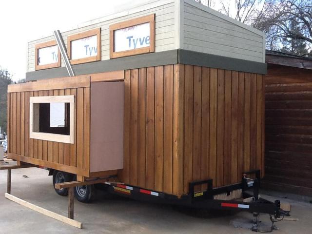 First tiny house with an rv slide out feature tiny for How to build a tiny house on a trailer