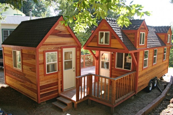 Molecule Tiny Homes - Two Tiny Houses Joined by Porch - House and Shed Office