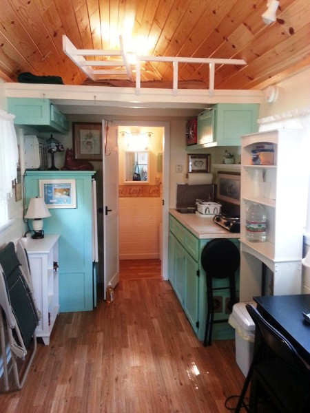 tiny homes interior 136 sq ft tiny cottage on a trailer for 32 000 tiny 15171