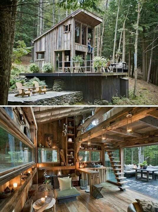 Rustic Small Cabin in the Woods