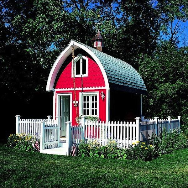 Tiny Red Barn House